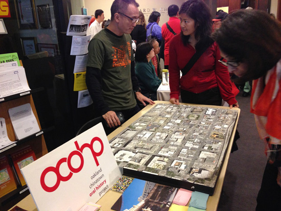 Memory Map at the Oakland Asian Branch Library. Photo by Sophia Hussain.