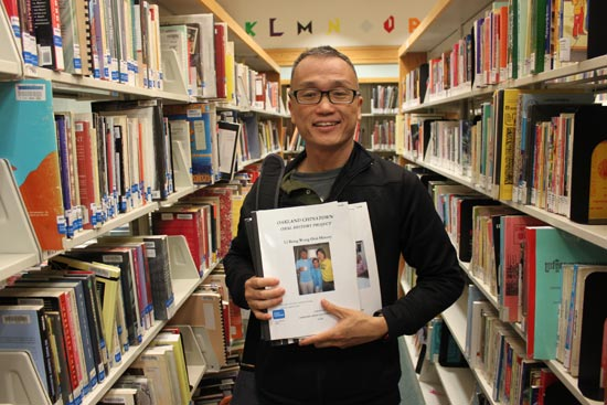 Roy Chan at the Oakland Asian Branch Library. Photo by Sophia Hussain.