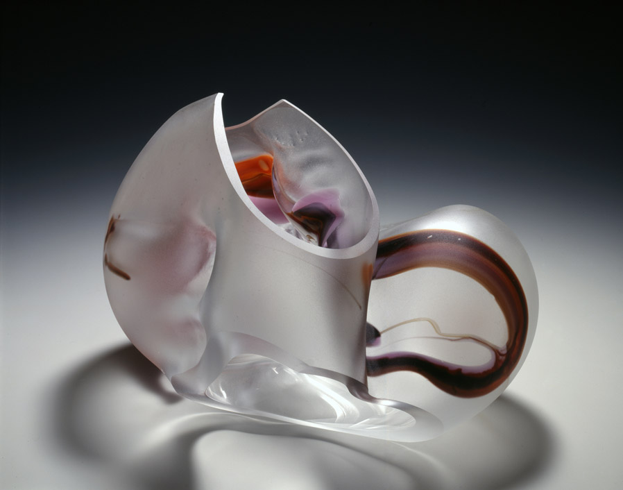 Marvin Lipofsky, Zwiesel Series, 1980. Blown and cut glass. Collection of Oakland Museum of California, gift of Dorothy and George Saxe.