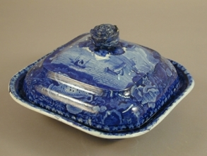 Vegetable dish, ca. 1850. Oakland Museum of California; Charles P. Wilcomb Collection