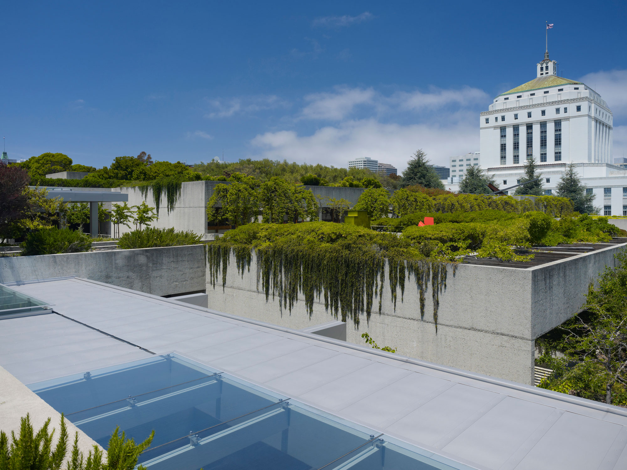 View of the Alameda Courthouse from the OMCA terraces