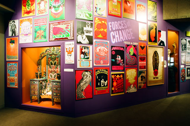 OMCA Gallery of California History with 1960s political posters