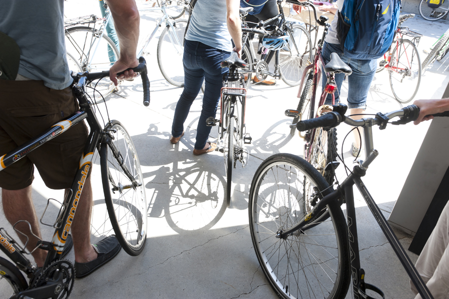 Explore Oakland on Two Wheels with free bike tours hosted by the Oakland Museum of California. Photo: Shaun Roberts