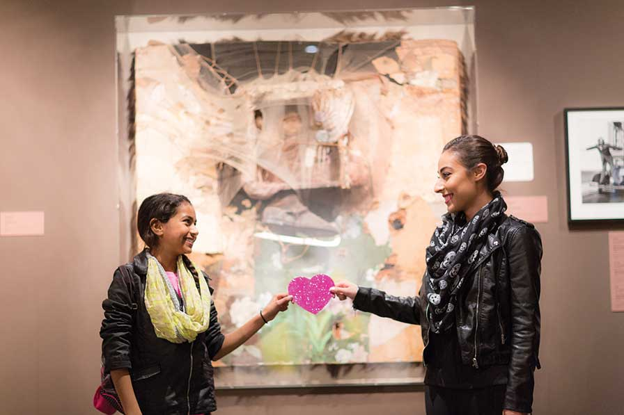 Celebrate Valentine's Day with Hearts for Art at the Oakland Museum of California! Photo: Odell Hussey Photography