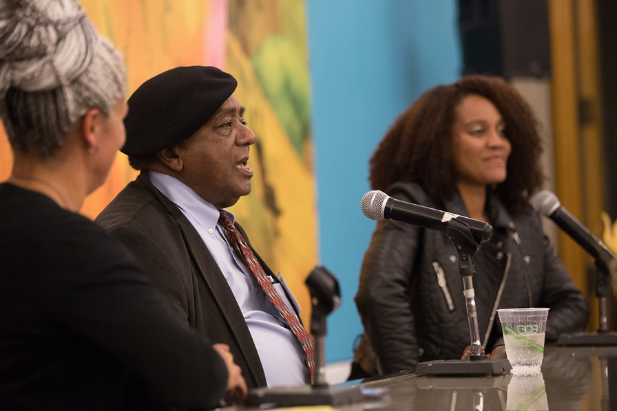 Buy tickets for Bobby Seale and Chinaka Hodge in conversation on Two Generations of Black Struggle, January 21, 2017. Photo: TechBoogie Media