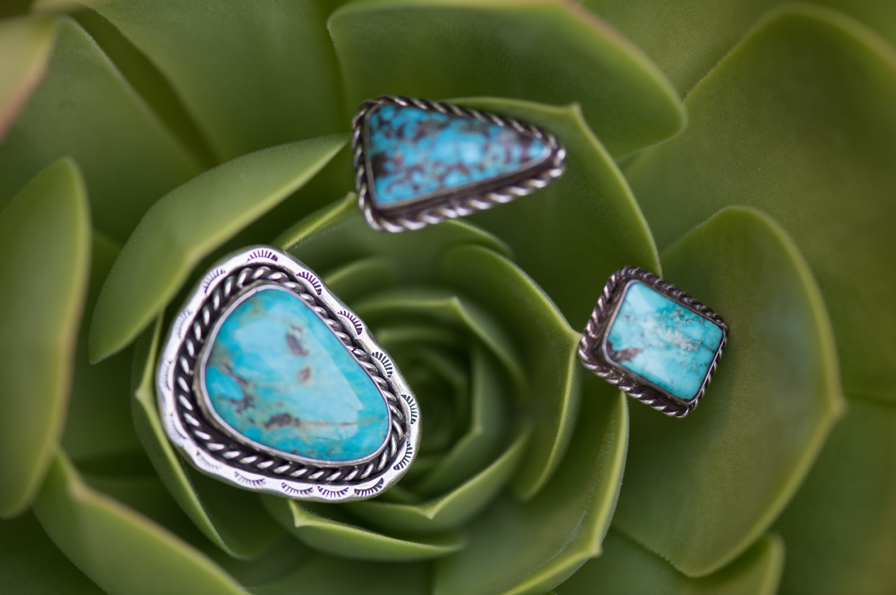 Pieces by Niel Martinez of the Paiute/Dine tribe. Photo: Kristen Loken
