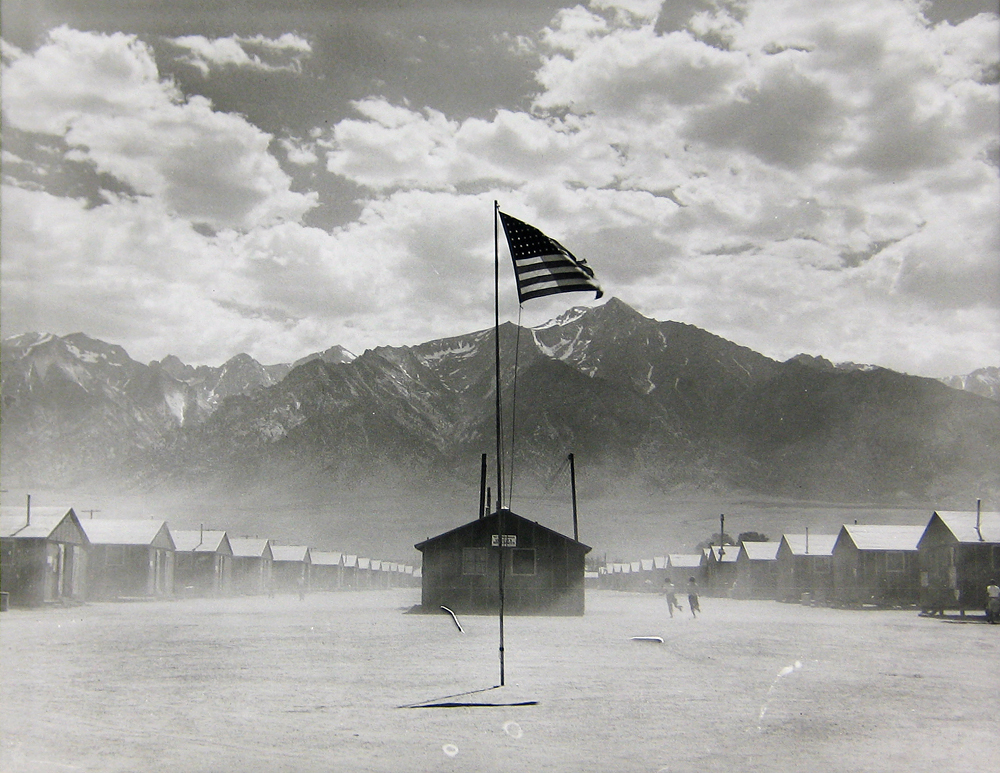 Dorothea Lange, Manzanar Relocation Center, 1942. Gelatin silver print, 11 x 14 in. Collection of the Oakland museum of California, Gift of Paul S. Taylor.