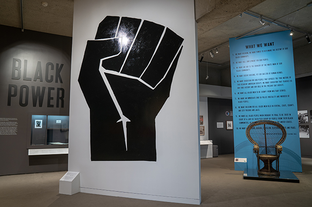 Black Power exhibit in the Gallery of California History