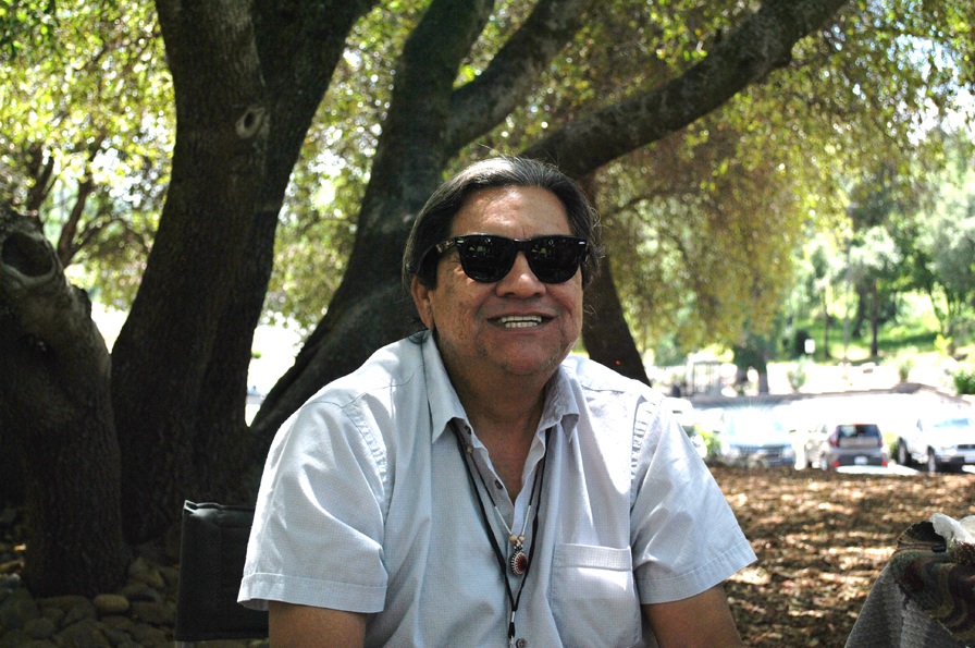 Paul Stone, artist from the Paiute/Washoe tribes. Photo: Kenneth Ray Seals