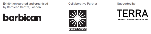 Exhibition curated and organised by Barbican centre, London. Collaborative partner: Eames Office. Supported by Terra Foundation for American Art