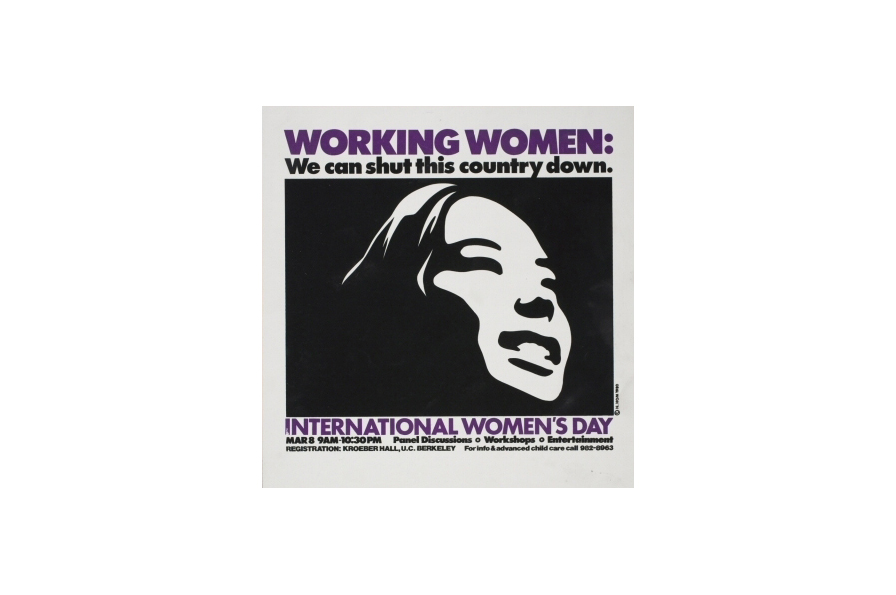 Nancy Hom, Working Women: We can shut this country down, 1980. Screen print, H: 17 in, W: 16.5 in. All Of Us Or None Archive. Gift of the Rossman Family.