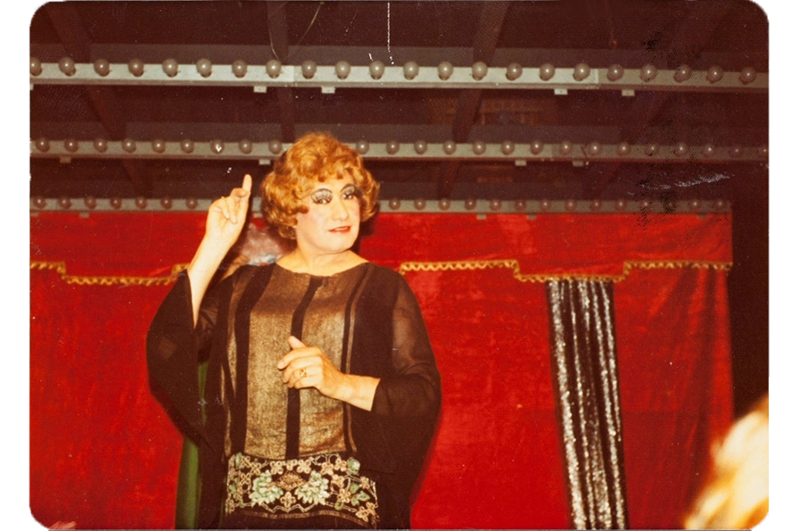 Jose Sarria performing in drag. Courtesy of Jose Sarria