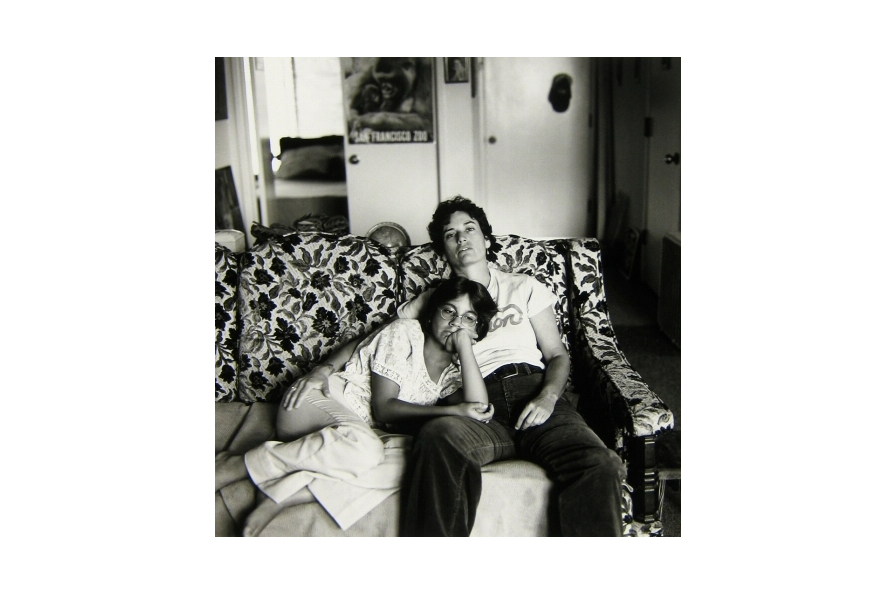 Helen Nestor, Lesbian Mother and Her Daughter, 1978. Gelatin silver print, H: 12.13 in, W: 11 in. Collection OMCA, gift of the artist.