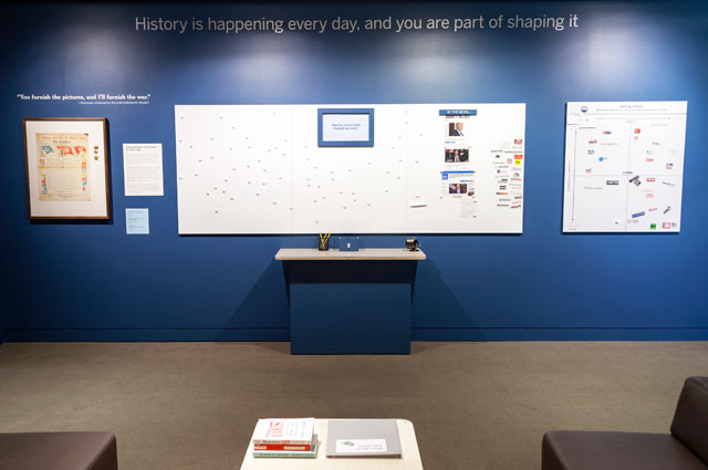 History Now Fake News exhibit at the Oakland Museum of California