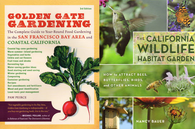 Book covers for two gardening books