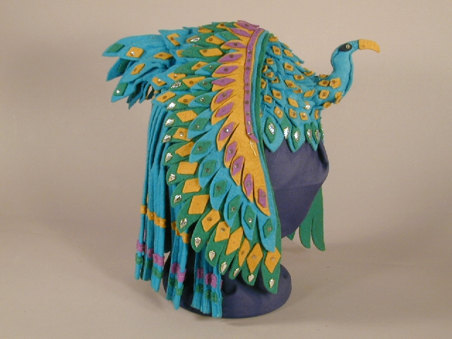 Headdress used by José Sarria, c. 1950's. Multicolor felt. Collection of the Oakland Museum of California, Gift of José Sarria.