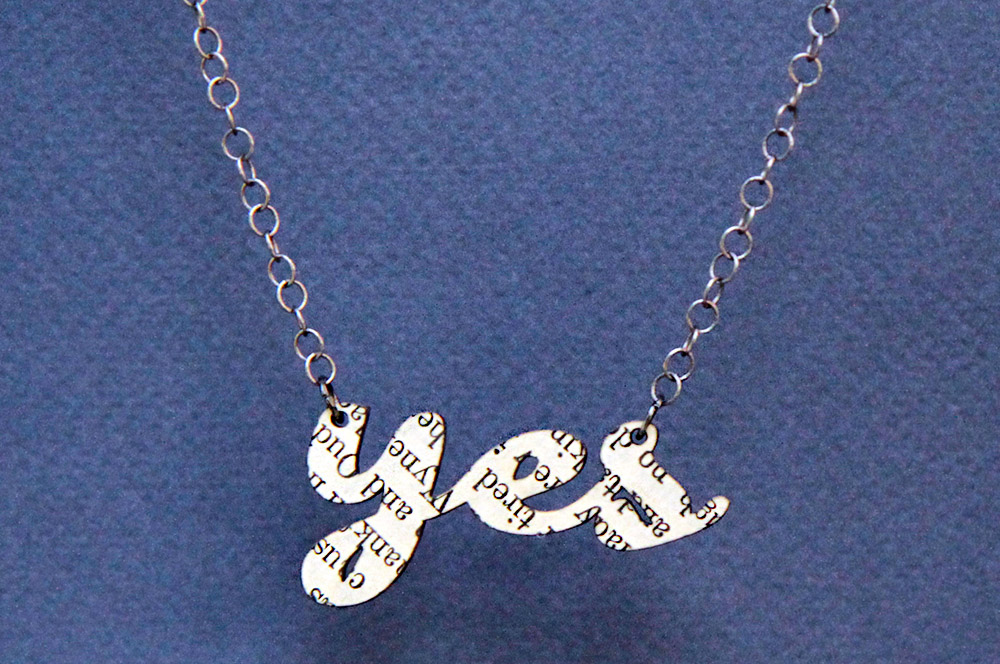 Necklace by Yes & Yes. Copyright Yes & Yes 2014. All Rights Reserved.