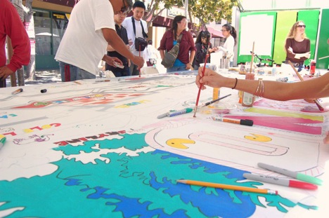 Map-making begins at the Oakland Chinatown StreetFest.