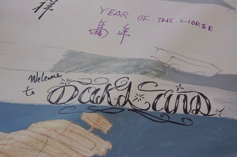 A detail from the map made at Oakland Chinatown StreetFest.