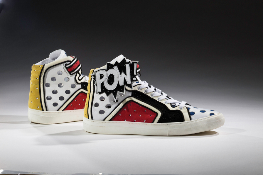 Pierre Hardy, Poworama, 2011. Collection of the Bata Shoe Museum, gift of Pierre Hardy. Photo: Ron Wood. Courtesy American Federation of Arts/Bata Shoe Museum