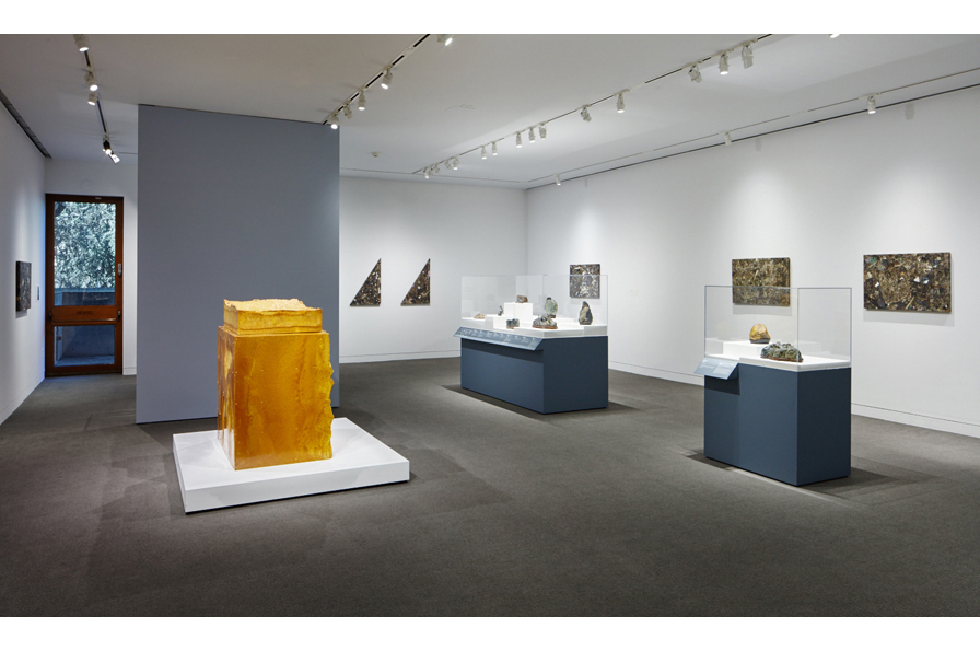 Installation view, UNEARTHED: Found + Made, on view at the Oakland Museum of California through April 24, 2016. Photo by Johnna Arnold
