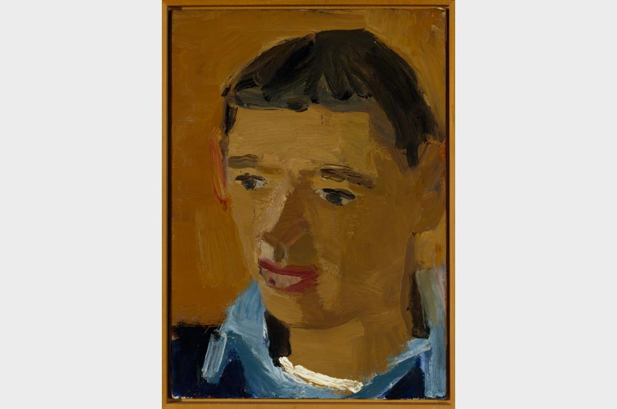David Park, Portrait of Richard Diebenkorn, circa 1953. Oil on canvas, 21 x 15.25 in. Collection of the Oakland Museum of California, gift of Mrs. Roy Moore.