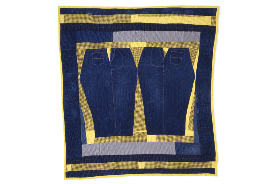 Pieced by Arbie Williams, Quilted by Willia Ette Graham and Johnnie Alberta Wade, Mamaloo, 1992. Denim, cotton flannel. Collection of Eli Leon