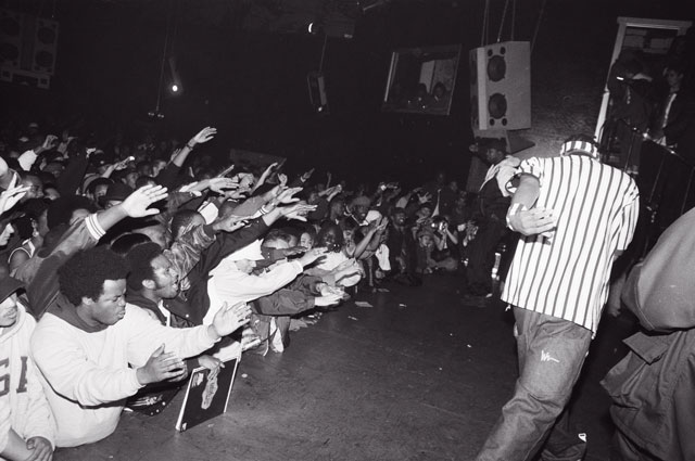 Method Man on stage in 1994 photographed by the artist Traci Bartlow featured in RESPECT: Hip-Hop Style and Wisdom at the Oakland Museum of California.