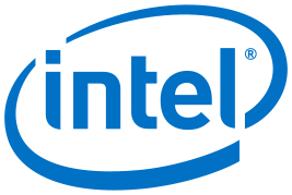 Blue Intel logo
