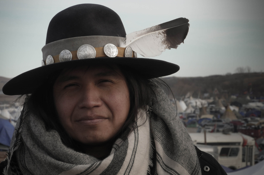 Lehi Thundervoice Eagle Sanchez, Diné (Navajo) Nation in Arizona & Aztec tribes in Mexico . Photo by Joey Montoya