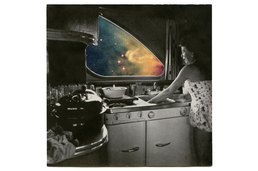 Sarah Hotchkiss, Nebula Camper, 2010. 6 x 8 inches, collage. Courtesy of the artist.