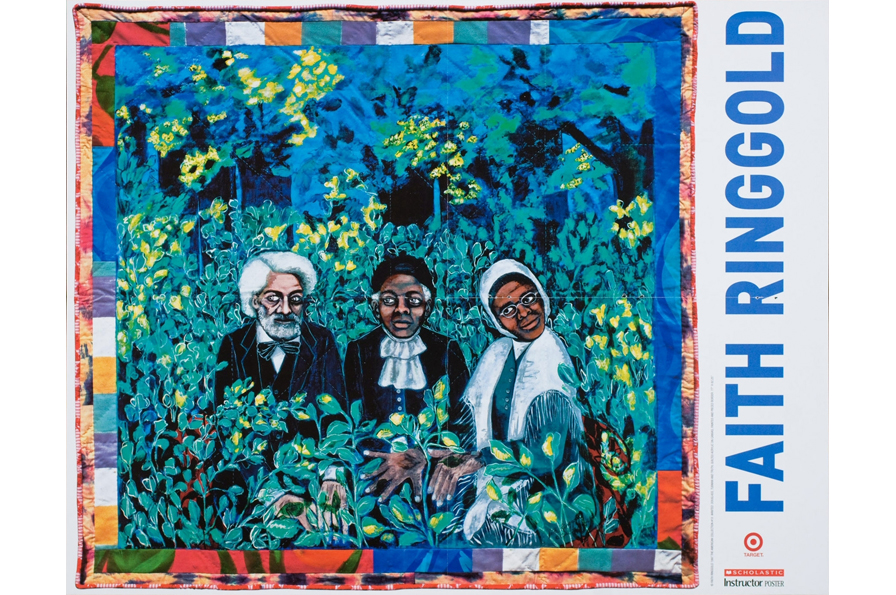 Faith Ringgold, Untitled, 1997. Offset lithograph, H: 15.625 in, W: 20 in. All Of Us Or None Archive. Gift of the Rossman Family.