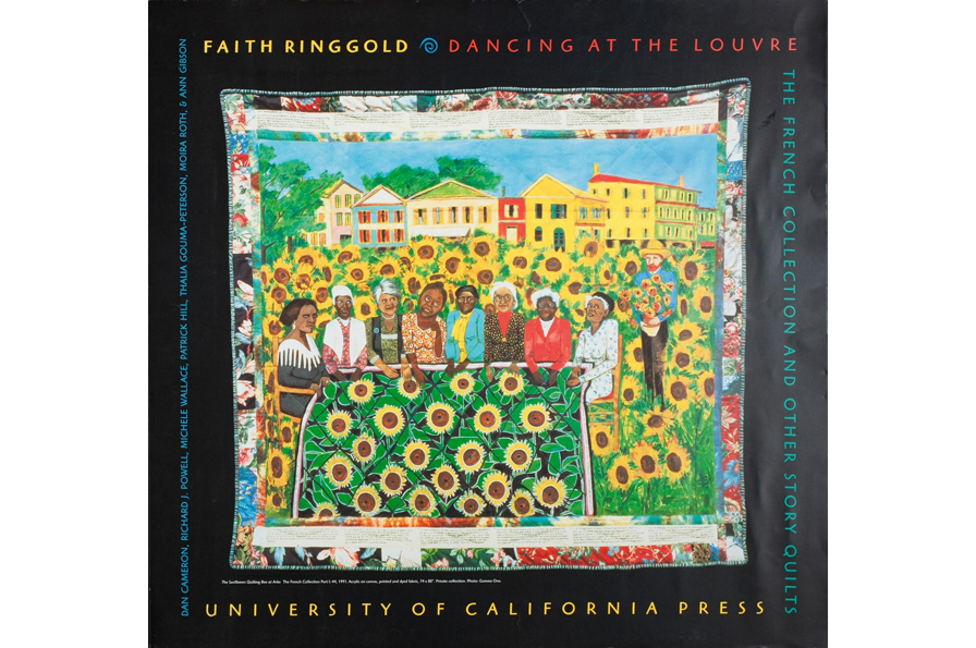 University of California Press, Faith Ringgold: Dancing at the Louvre, 1998. Offset lithograph, H: 22.5 in, W: 23.5 in. All Of Us Or None Archive. Gift of the Rossman Family.