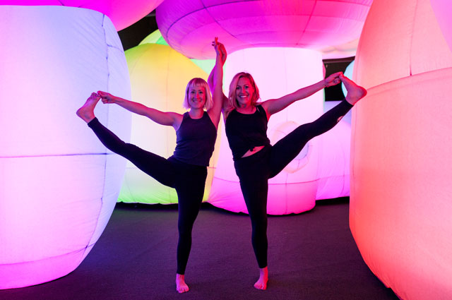Katie Clover and Shannan Slevin of Showga in Oakland Museum of California