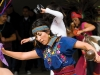 A woman dancing at the Días de Los Muertos community celebration