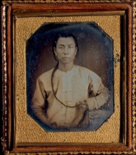 Isaac W. Baker, Untitled (Portrait of a Chinese Man), c.1851, Sixth plate daguerreotype, H: 3.75 in, W: 3.25 in. Gift of an Anonymous Donor.