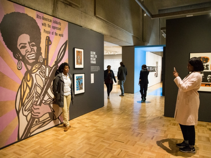 Inside the exhibition All Power to the People: Black Panthers at 50. Photo: Odell Hussey Photography.