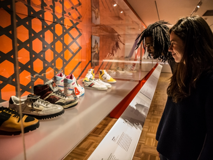 Inside the exhibition Out of the Box: The Rise of Sneaker Culture. Photo: Odell Hussey Photography.