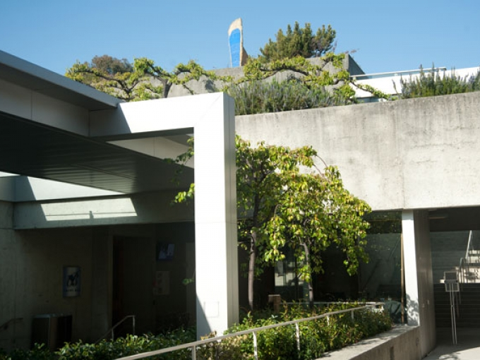 Outdoor walkways at the Oakland Museum of California, a popular spot for outdoor activities
