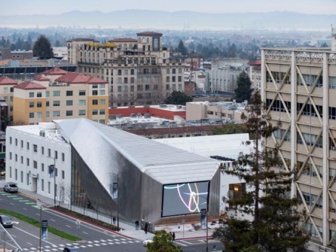 UC Berkeley Art Museum and Pacific Film Archive, 2016. Photo: Iwan Baan. Courtesy of Diller Scofidio + Renfro; EHDD; and UC Berkeley Art Museum and Pacific Film Archive.