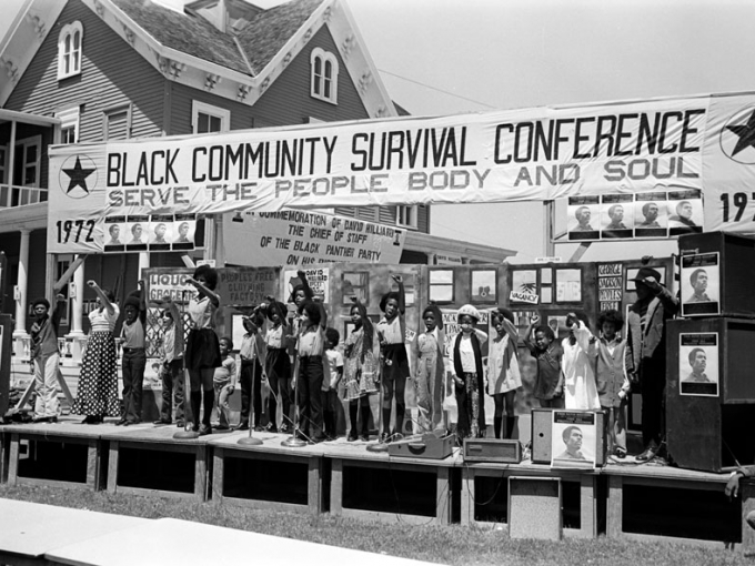 Stephen Shames, Untitled (Community Survival Conference, Oakland), 1972. © Stephen Shames / Polaris, courtesy of the photographer