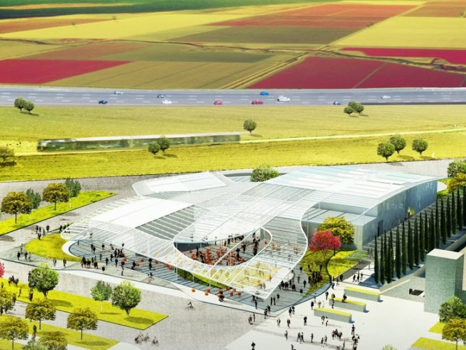 Architect's rendering of Manetti Shrem Museum of Art, courtesy of UC Davis. Architect: Brooklyn firm SO — IL and S.F. firm Bohlin Cywinski Jackson