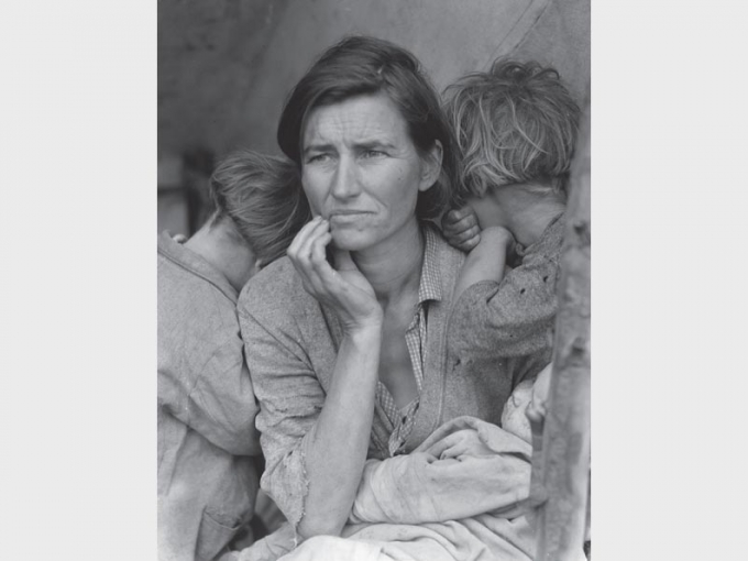Dorothea Lange, Migrant Mother, Nipomo, San Luis Obispo County, California, 1936. Library of Congress.