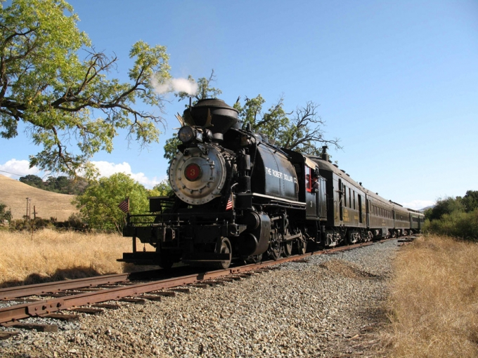 Niles Canyon Railroad Steam Locomotive. Courtesy of Niles Canyon Railway.