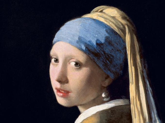 Detail, Johannes Vermeer (Delft 1632–1675 Delft), Girl with a Pearl Earring, ca. 1665. Oil on canvas, 17 1/2 x 15 3/8 in. (44.5 x 39 cm). Royal Picture Gallery Mauritshuis, The Hague. Bequest of Arnoldus des Tombe, 1903 (inv. no. 670).  Image courtesy of the Royal Picture Gallery Mauritshuis, The Hague.