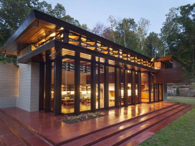 Bachman-Wilson House by Frank Lloyd Wright, Crystal Bridges Photo: Nancy Nolan @2015