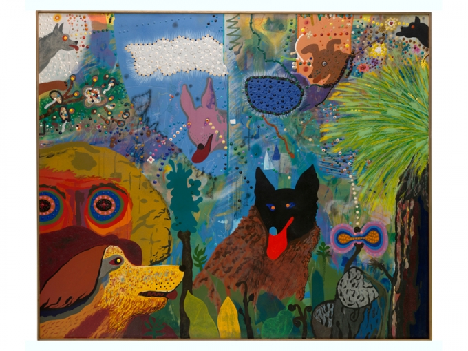 Roy De Forest, Black Dog, 1973. Art © Estate of Roy De Forest/Licensed by VAGA, New York, NY