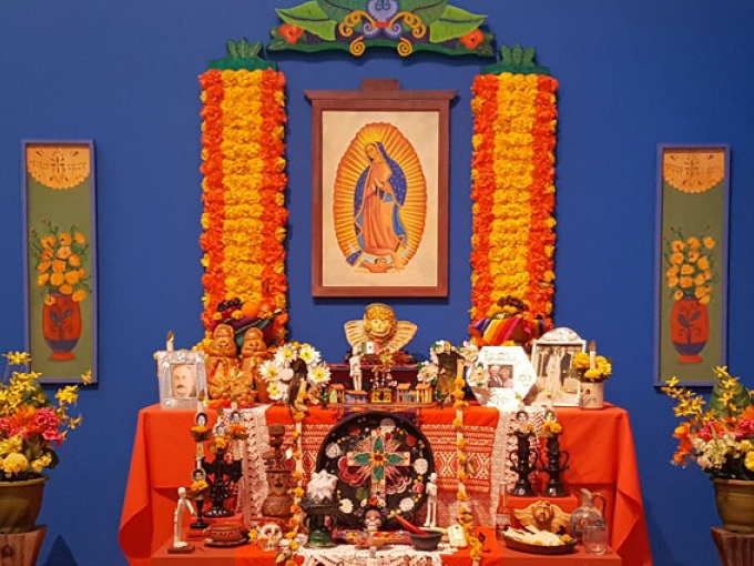 Altar by artist Bea Carillo Hocker at the Oakland Museum of California Days of the Dead exhibition