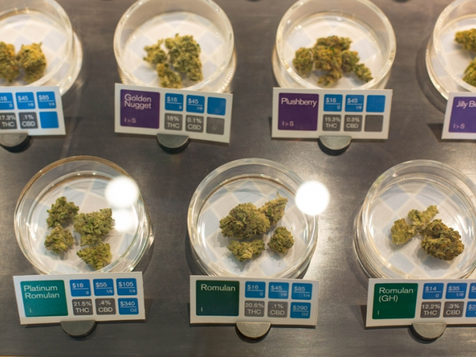 Medical cannabis at a San Francisco dispensary.  Credit: Courtesy of Drug Policy Alliance; Photo: Sonya Yruel