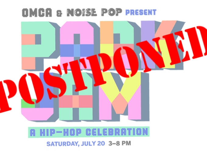 Park Jam logo with a postponed sign across it